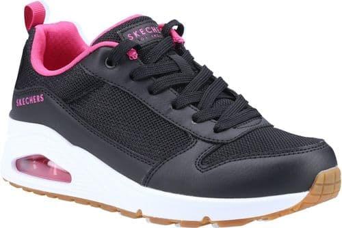 Skechers Uno Inside Matters Ladies Sports Black